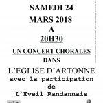 AFFICHE CONCERT ARTONNE 24-03-18