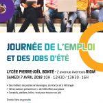 Affiche Journée de l'emploi et des jobs d'été 070418 Riom